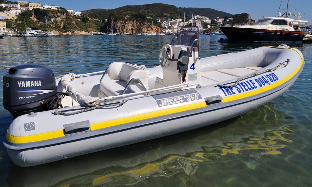 Joker Coaster 470 Boat Rental in Ponza
