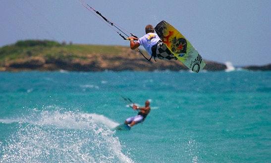 Kiteboarding In Osbourn, Antigua And Barbuda