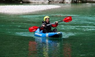 Kayak in Soča