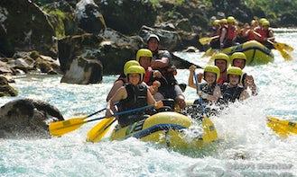Raft in Bovec, Slovenia