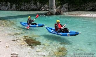 Guided Kayak Trip on Soca River in Bovec