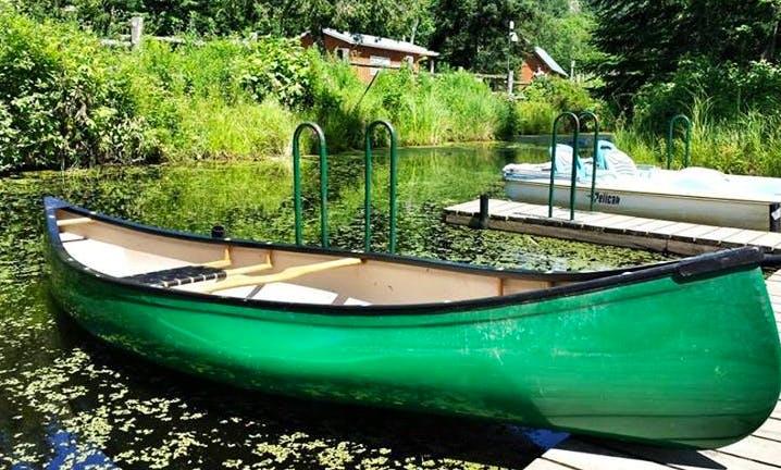 Water Maze Adventures with 3 Person Canoe in La Peche, Canada