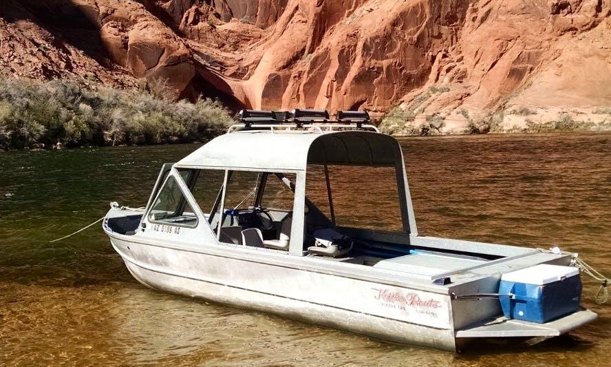 23' Koffler Jet Fishing Boat In Marble Canyon Arizona, United States