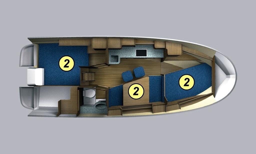 Nexus 850 Vmax Motor Boat Charter In Wegorzewo
