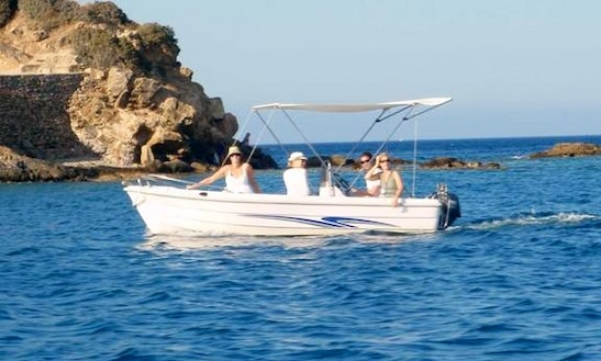 Self Drive Boat For 4 People Ready To Hire In Lasithi, Greece