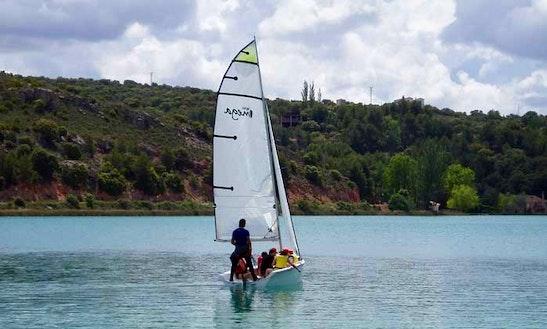 Windsurfing In Ruidera, Spain