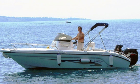 175hp Center Console Boat Hire In Kerkira