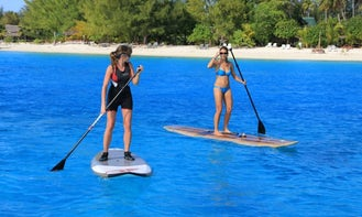 Stand Up Paddle Boarding In Vaitape, French Polynesia