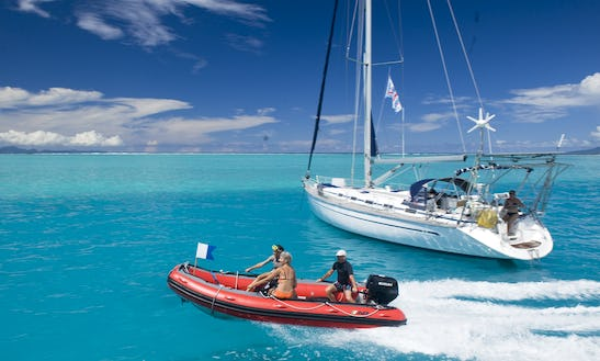 49' Bavaria Yacht Cruises With Diving Activity In Uturoa