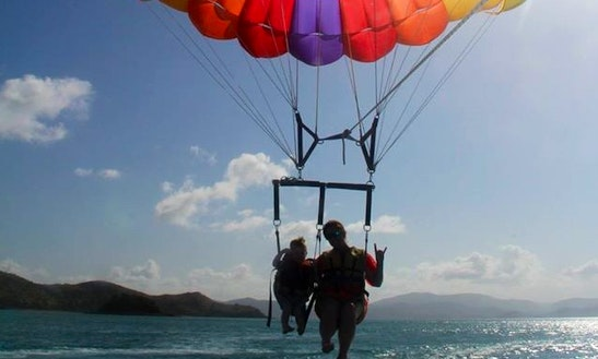 Parasailing In Queensland, Australia