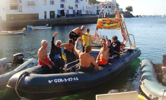 15' Elisenda Rib Diving Trips In Cadaques, Spain