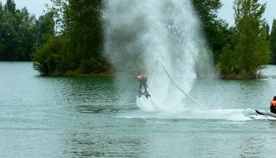 Flyboarding Session  In Mouliets-et-villemartin