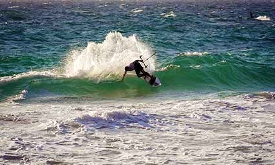 Kiteboarding In Scarborough, Australia