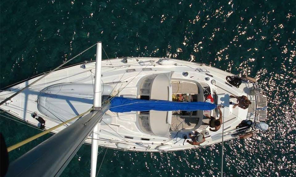"38' ""Rania"" Cruising in Kefallonia, Greece"
