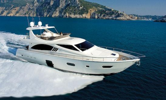 'volveré' Ferretti 680 Motor Yacht Charter In Kerkira