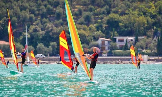Windsurfing In Brenzone, Italy