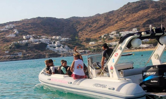 Rib Diving Trips In Santorini, Greece