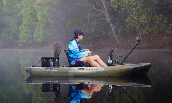 Guided Kayak River Fishing Trip On Tweed River