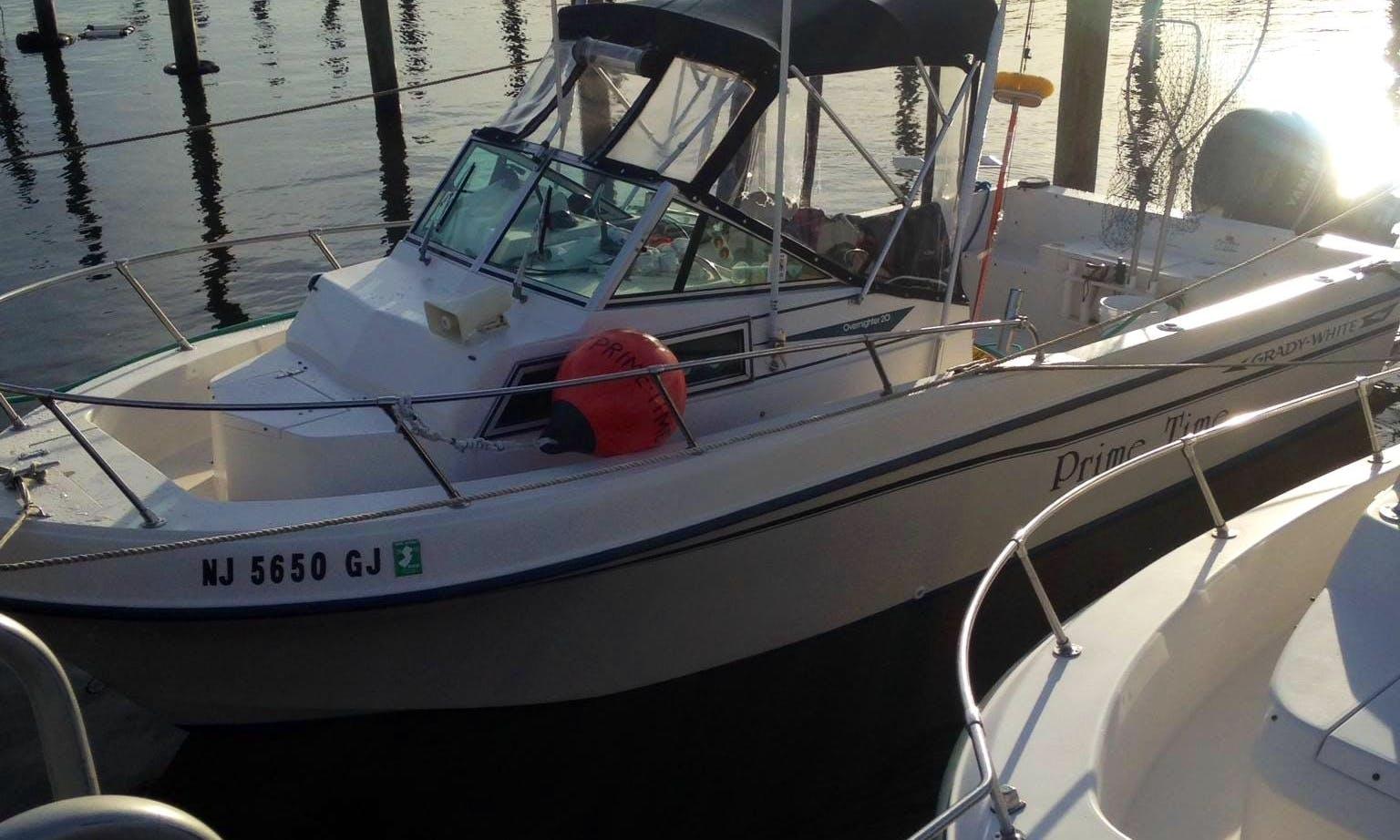 20ft Grady White Cuddy Cabin/Walk Around Boat Fishing Charter in Highlands, New Jersey