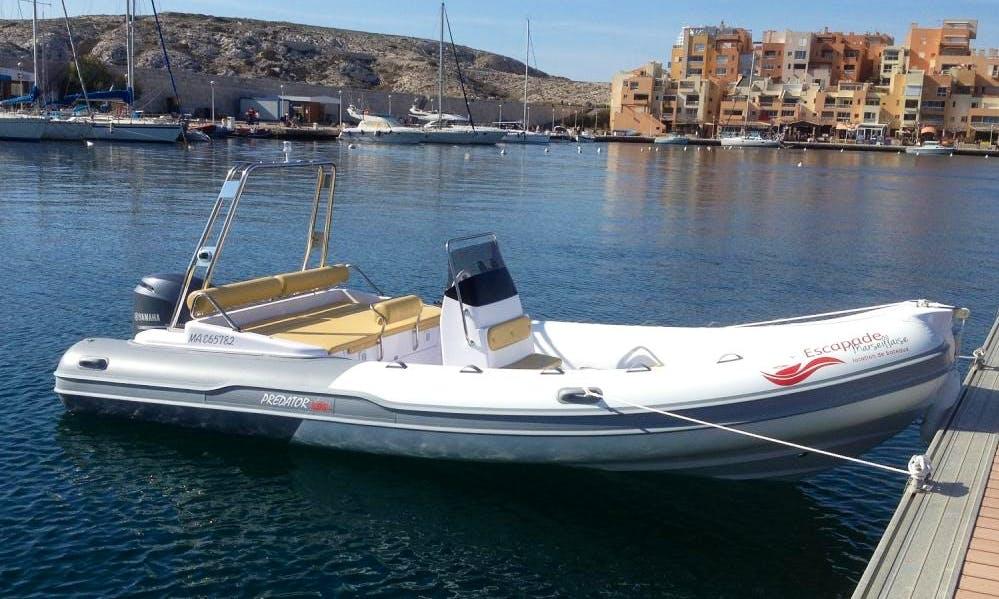 Predator 599 TS Boat Hire in Marseille