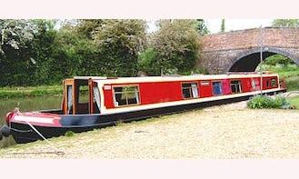 """65' Canal Boat """"Shackerstone"""" In Stoke Golding"""