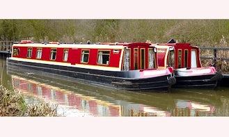 """69' Canal Boat Hire """"Oakthrope"""" In Stoke Golding"""