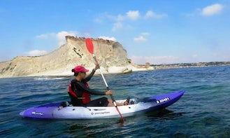 Single Kayak Rental in Gzira and Salina Bay, Malta