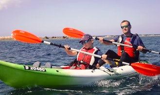 Tandem Kayak Rental in Gzira and Salina Bay, Malta