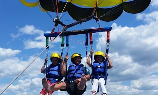 Parasailing In Paihia, New Zealand