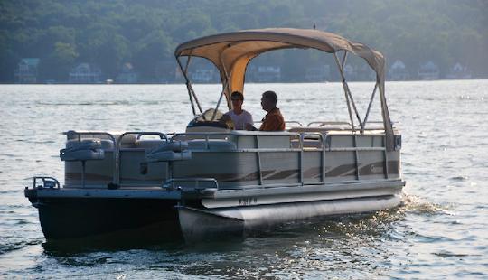 75hp Pontoon Rental Conesus Lake $1,350 Wk +fuel