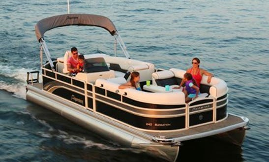 115hp Pontoon Rental Conesus Lake $1,350wk +fuel