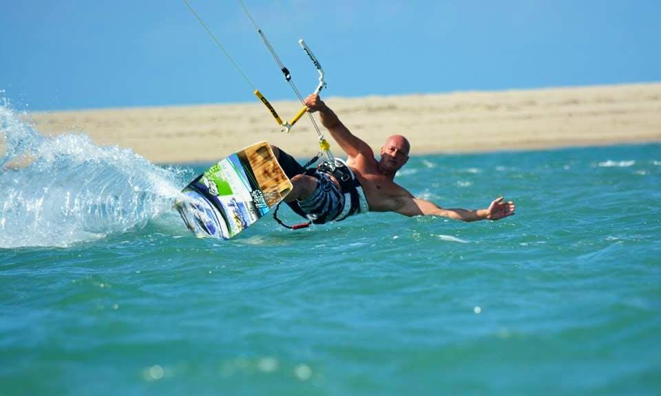 Kiteboarding in Brenzone, Italy