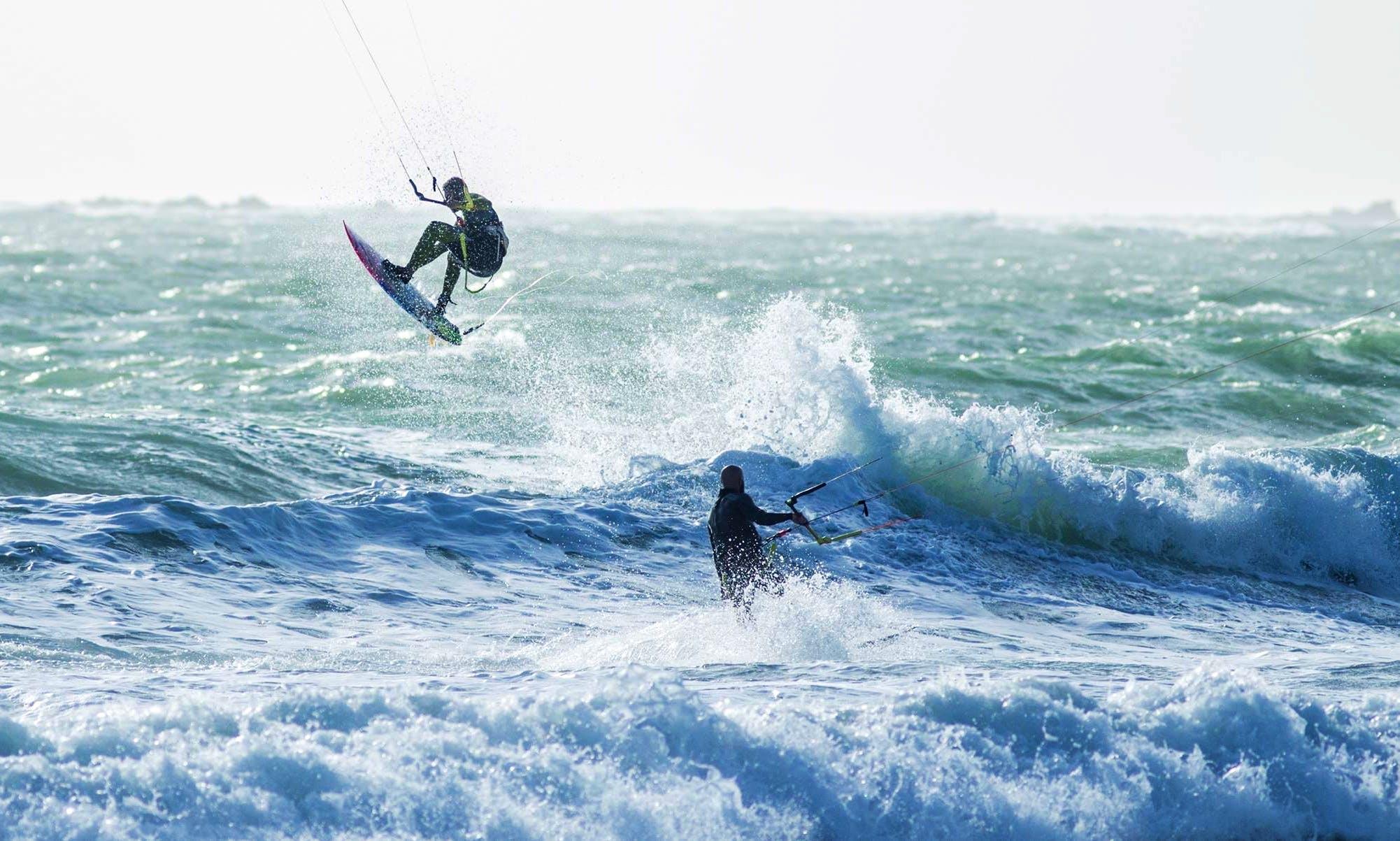 Kiteboarding in Chiclana de la Frontera, Spain
