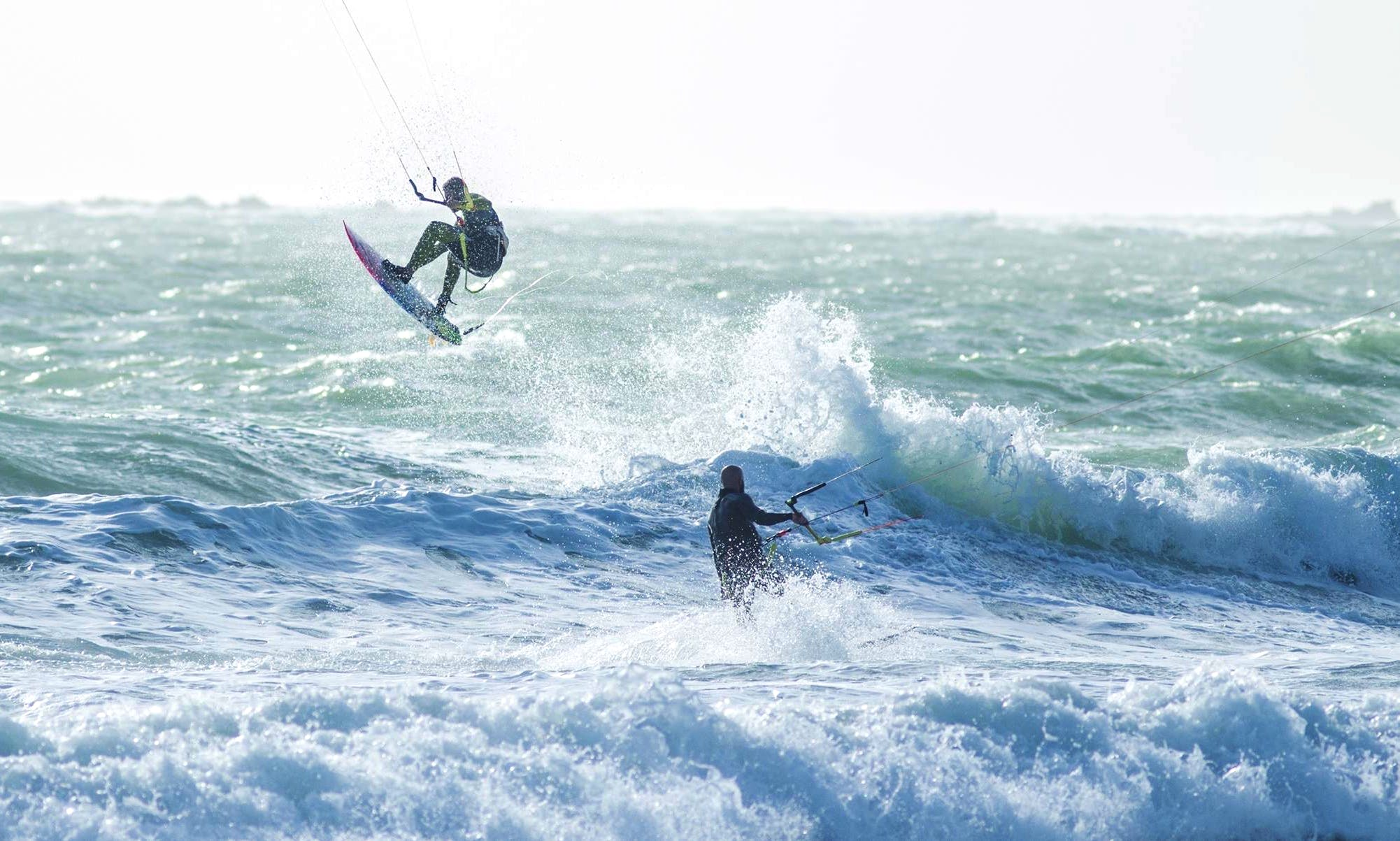 Kiteboarding in Chiclana de la Frontera, Spain