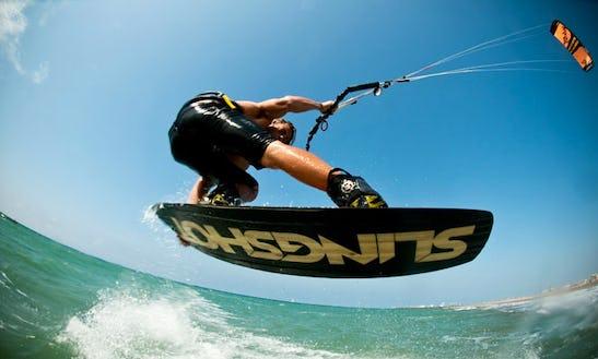 Kiteboarding In Oliva, Spain