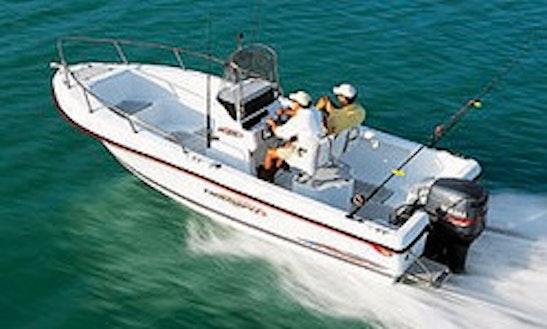 21ft Center Console Boat Rental In Bigfork, Montana