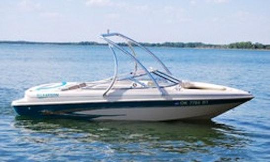 18ft Bowrider Boat Rental In Bigfork, Montana