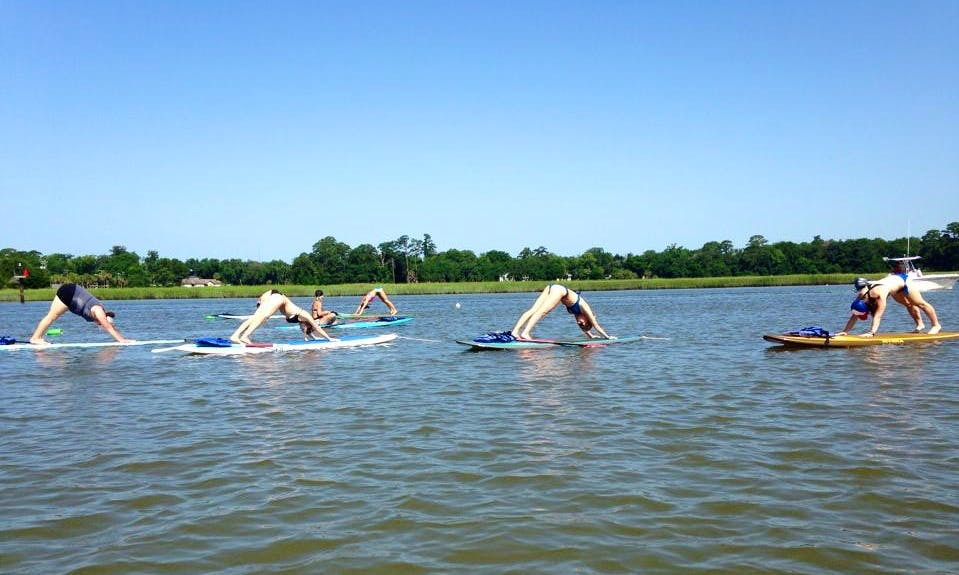 Stand Up Paddle Yoga Lesson in Tybee Island