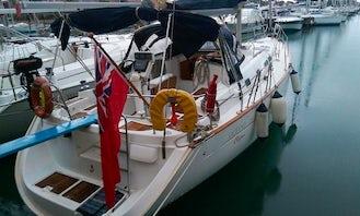 43' Sailing Yacht In Alicante Marina.