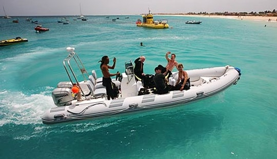 Boat Diving Trips For 14 Divers In Santa Maria, Cape Verde