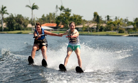 Water Skiing In Delray Beach, Florida