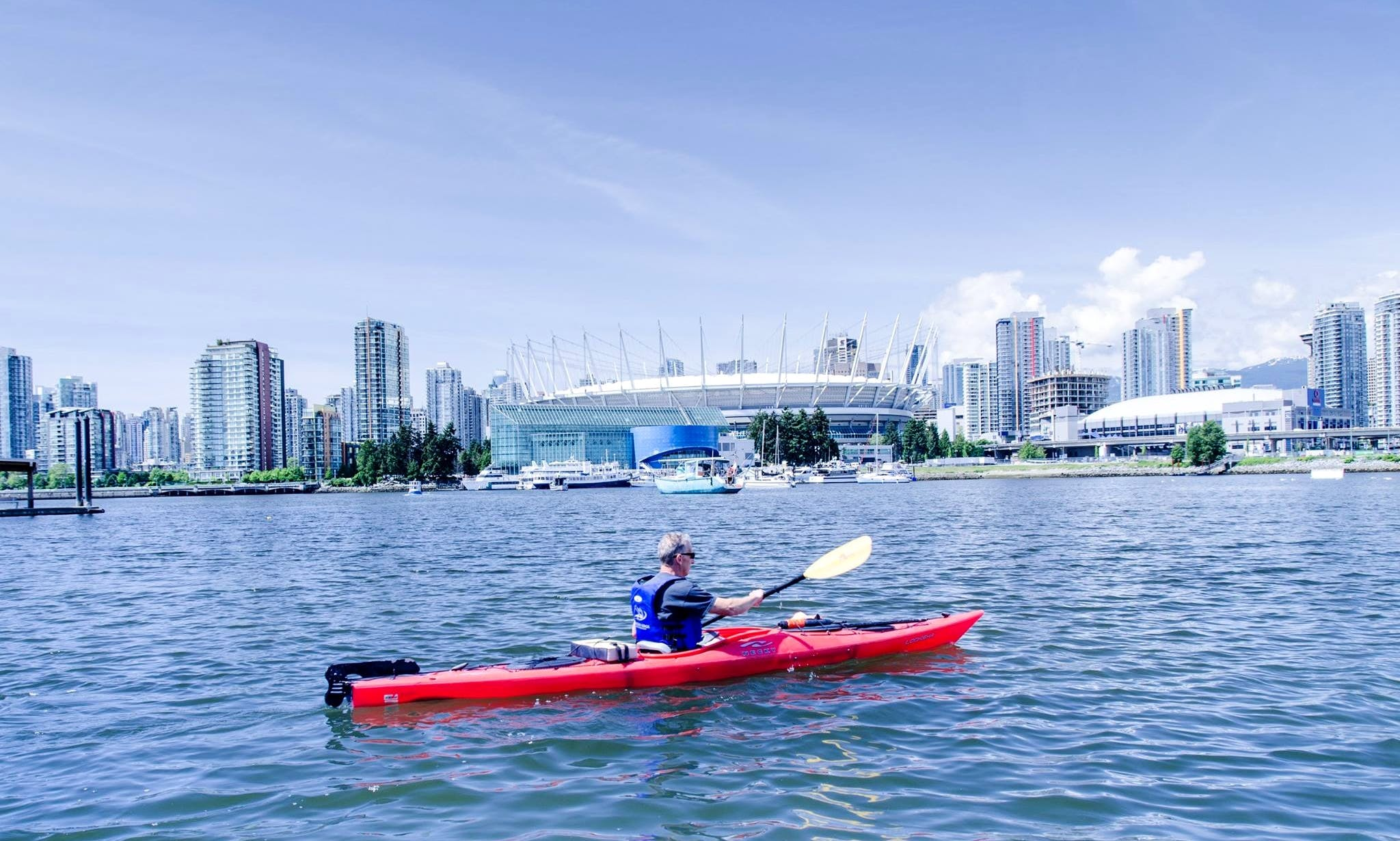 Tandem Kayak Rental with Life Jacket in Vancouver,  British Columbia