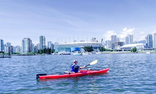 Tandem Kayak Rental With Life Jacket In Vancouver,  British Columbia