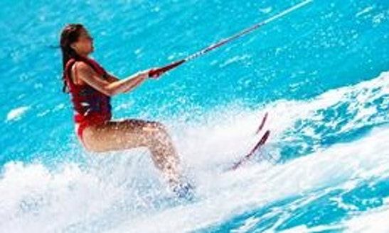 Water Skiing In Sant Joan De Labritja, Spain