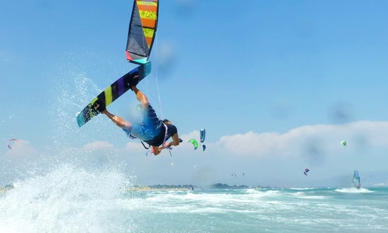 Kiteboarding In Castelldefels, Spain