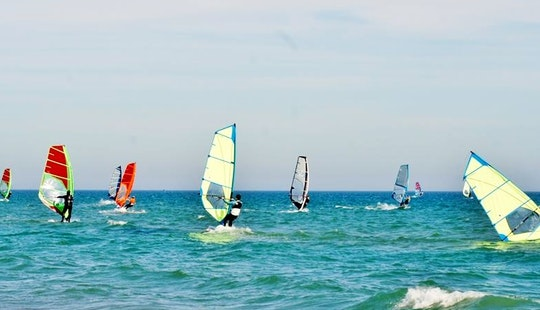 Book A Windsurfing Lesson For Up To 3 Hours In Castelldefels, Spain