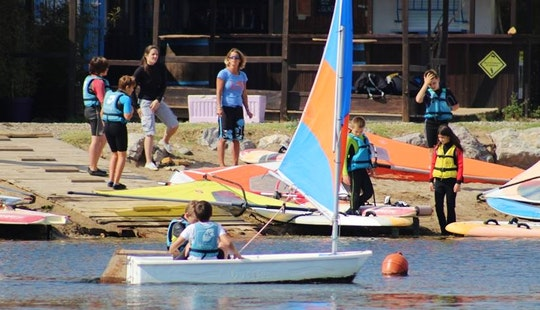 Windsurfing On Mediterranean Sea And Lakes Of The Regional Natural Park Of Narbonne