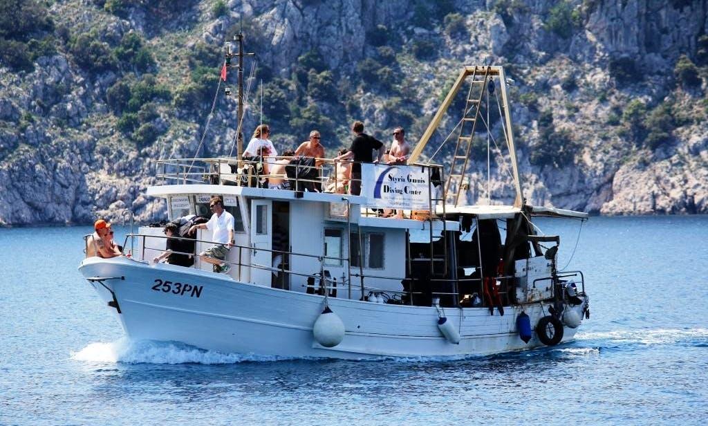 Draga Boat Diving Trips in Krk