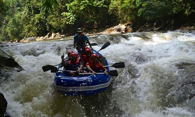White Water Rafting in the Sungai Geroh River