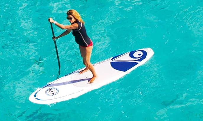 Stand Up Paddleboard Surfing in Asturias, Spain